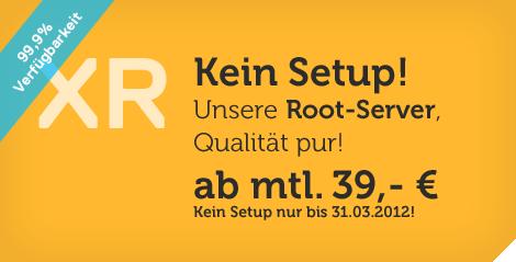 Rootserver ab 39,00 Euro