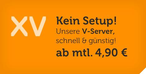 vServer ab 4,90 Euro